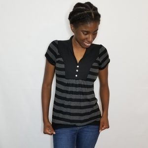 Wet Seal Black and Gray Sweater